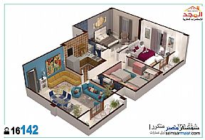 Apartment 3 bedrooms 2 baths 135 sqm semi finished For Sale Shorouk City Cairo - 1