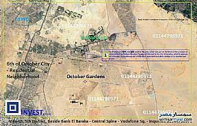 Ad Photo: Land 260 sqm in October Gardens  6th of October