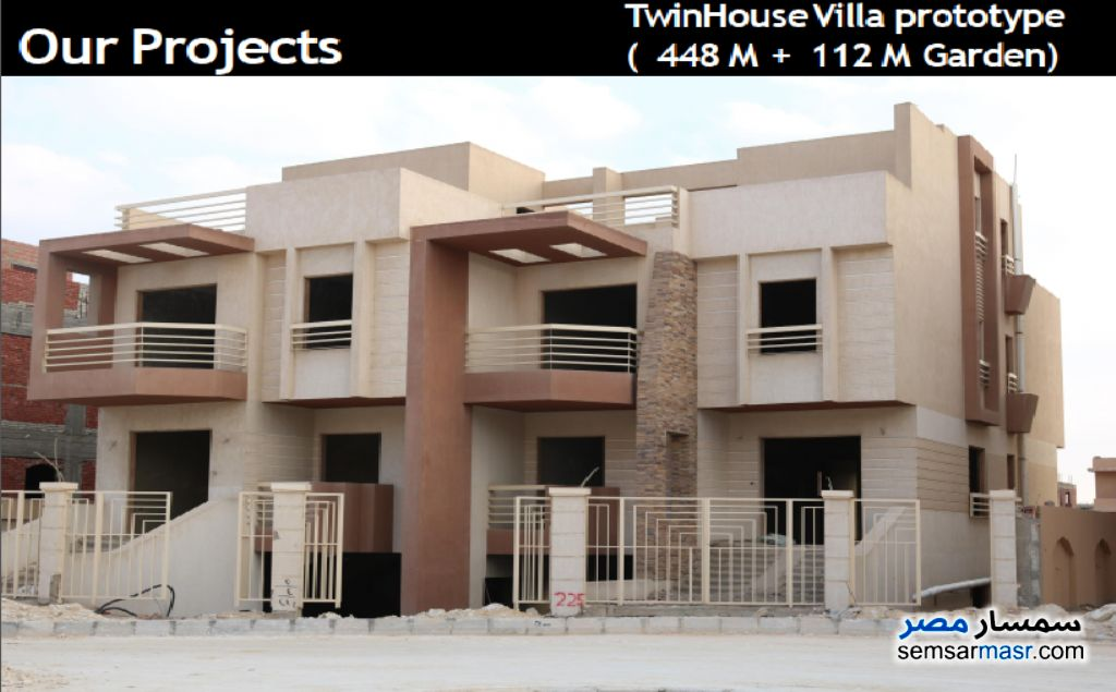 Ad Photo: Villa 6 bedrooms 4 baths 448 sqm semi finished in Palm Hills  6th of October
