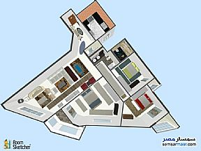 Ad Photo: Apartment 3 bedrooms 2 baths 225 sqm super lux in al mamourah Alexandira