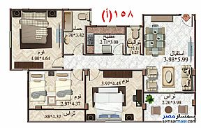 Ad Photo: Apartment 3 bedrooms 2 baths 158 sqm semi finished in Mokattam  Cairo