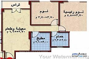 Ad Photo: Apartment 2 bedrooms 1 bath 110 sqm semi finished in Shorouk City  Cairo