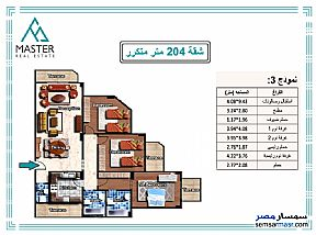 Ad Photo: Apartment 3 bedrooms 3 baths 204 sqm semi finished in Shorouk City  Cairo