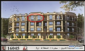 Ad Photo: Apartment 3 bedrooms 3 baths 143 sqm semi finished in Shorouk City  Cairo