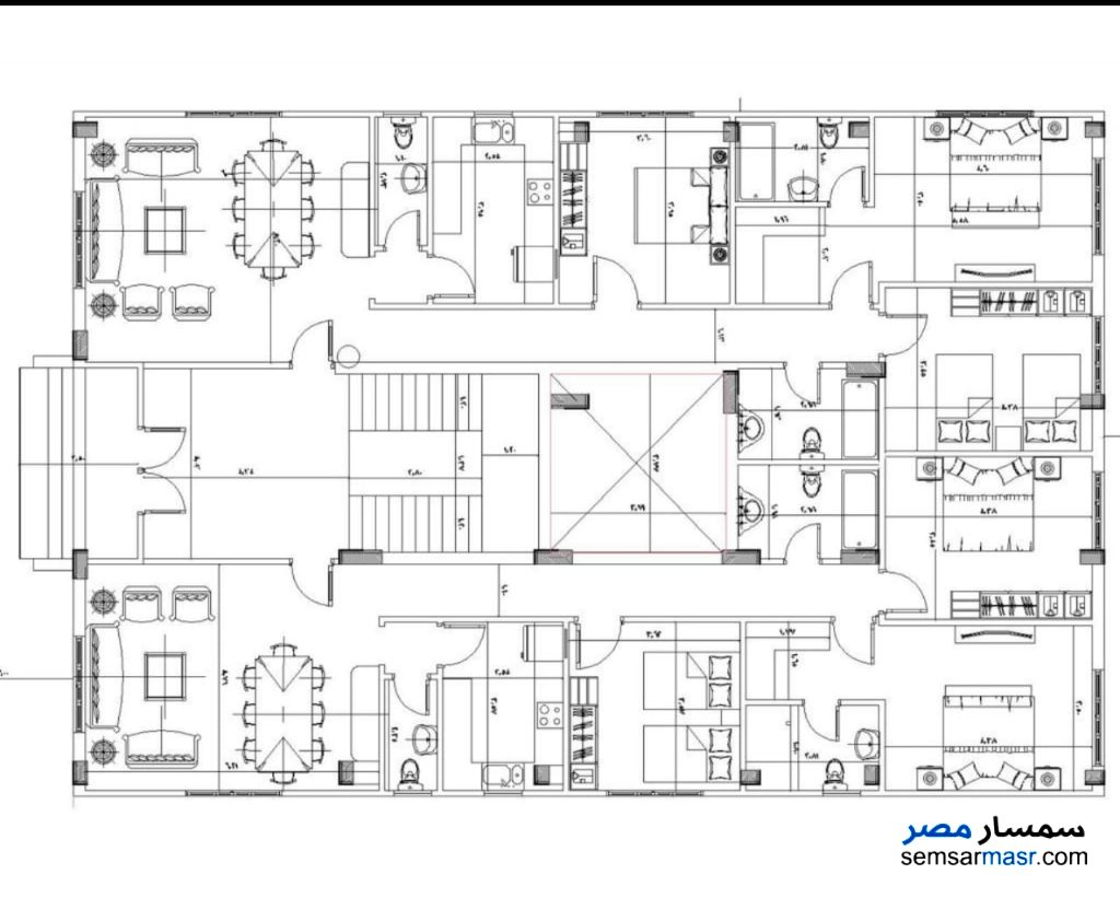 Photo 2 - Apartment 3 bedrooms 3 baths 190 sqm without finish For Sale Fifth Settlement Cairo