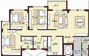 Ad Photo: Apartment 3 bedrooms 2 baths 133 sqm super lux in Madinaty  Cairo