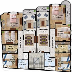 Ad Photo: Apartment 3 bedrooms 1 bath 130 sqm without finish in Tanta  Gharbiyah