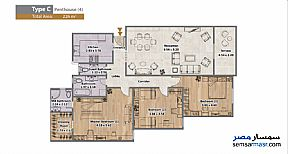 Apartment 3 bedrooms 4 baths 226 sqm extra super lux For Sale North Extensions 6th of October - 9