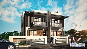 Ad Photo: Villa 3 bedrooms 3 baths 382 sqm semi finished in Mukhabarat Land  6th of October