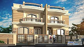 Ad Photo: Villa 4 bedrooms 3 baths 480 sqm semi finished in Mukhabarat Land  6th of October