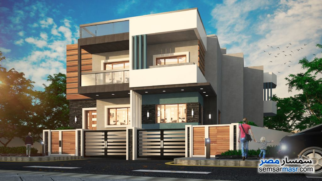 Ad Photo: Villa 3 bedrooms 3 baths 440 sqm semi finished in Mukhabarat Land  6th of October
