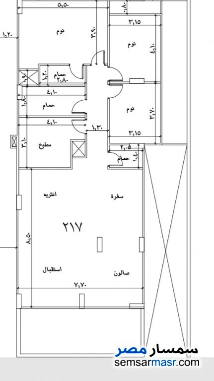 Photo 1 - Apartment 5 bedrooms 5 baths 384 sqm semi finished For Sale Hadayek Al Ahram Giza