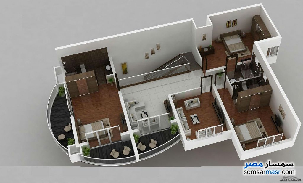 Photo 3 - Apartment 4 bedrooms 4 baths 404 sqm semi finished For Sale Districts 6th of October