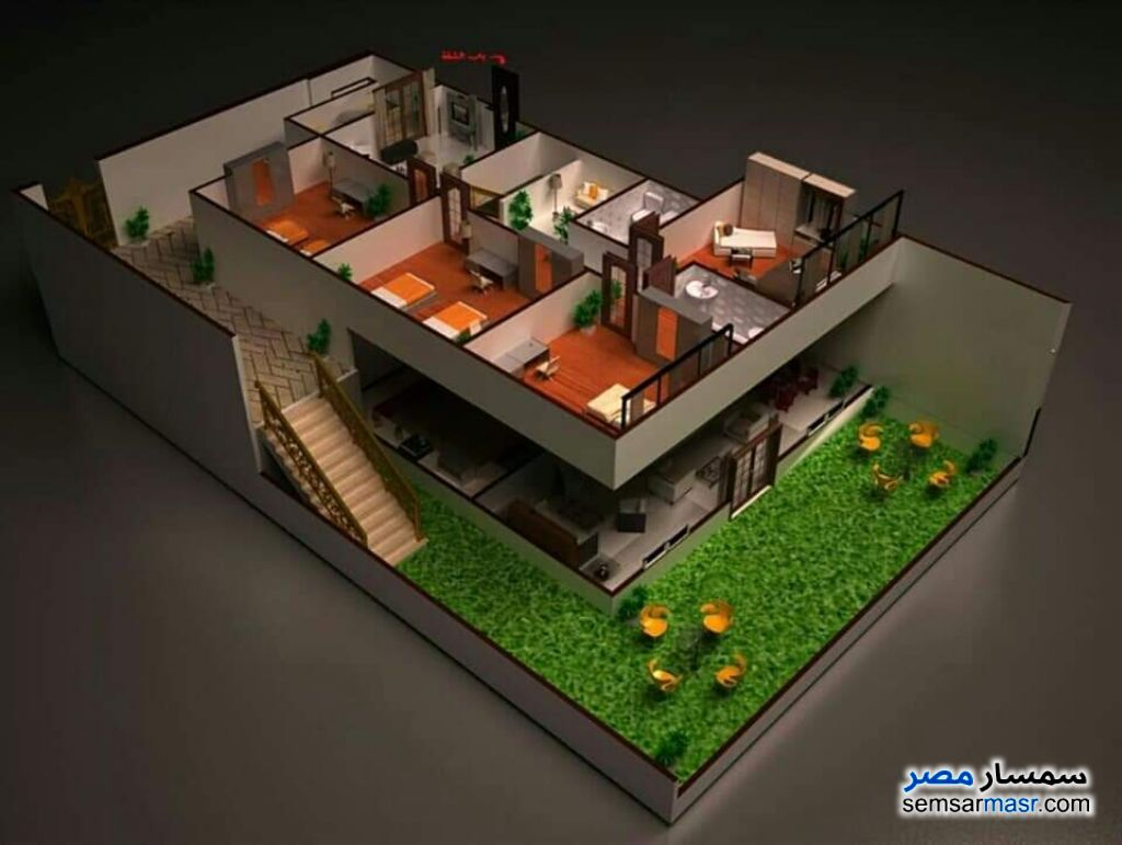 Ad Photo: Apartment 4 bedrooms 2 baths 270 sqm without finish in October Gardens  6th of October