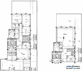 Apartment 6 bedrooms 3 baths 335 sqm without finish For Sale Fifth Settlement Cairo - 2