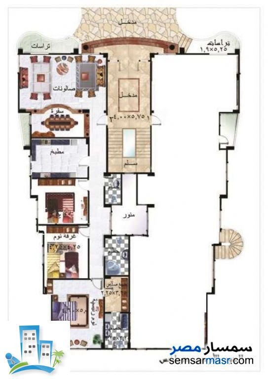 Ad Photo: Apartment 6 bedrooms 4 baths 445 sqm semi finished in First Settlement  Cairo