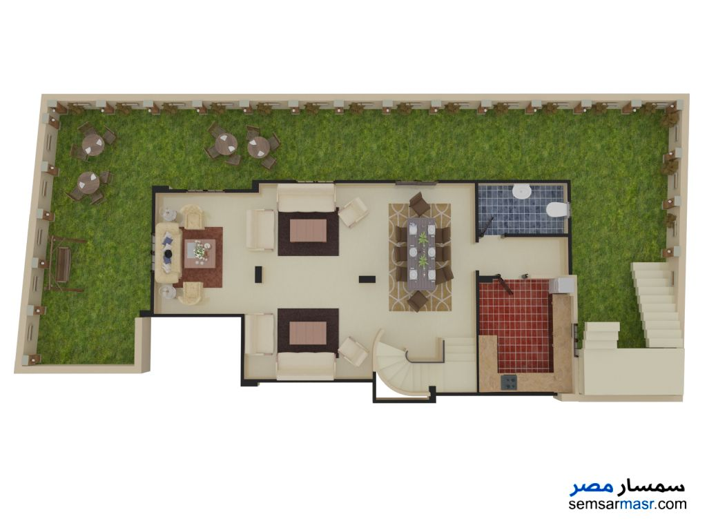 Photo 3 - Villa 4 bedrooms 3 baths 299 sqm semi finished For Sale Mukhabarat Land 6th of October