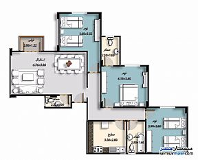 Ad Photo: Apartment 6 bedrooms 3 baths 295 sqm semi finished in Shorouk City  Cairo