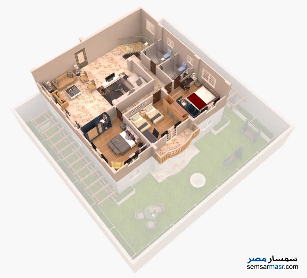 Photo 6 - Apartment 3 bedrooms 2 baths 365 sqm semi finished For Sale Shorouk City Cairo
