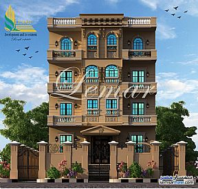 Ad Photo: Apartment 1 bedroom 1 bath 410 sqm semi finished in Mukhabarat Land  6th of October