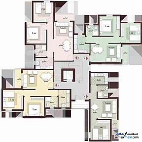 Apartment 1 bedroom 1 bath 65 sqm extra super lux For Sale Madinaty Cairo - 2