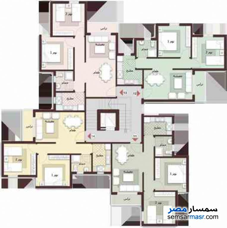 Photo 5 - Apartment 1 bedroom 1 bath 65 sqm extra super lux For Sale Madinaty Cairo