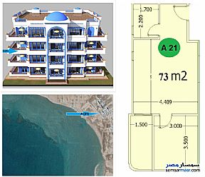 Ad Photo: Apartment 1 bedroom 1 bath 73 sqm semi finished in Hurghada  Red Sea