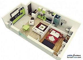 Ad Photo: Apartment 1 bedroom 1 bath 65 sqm super lux in Hurghada  Red Sea
