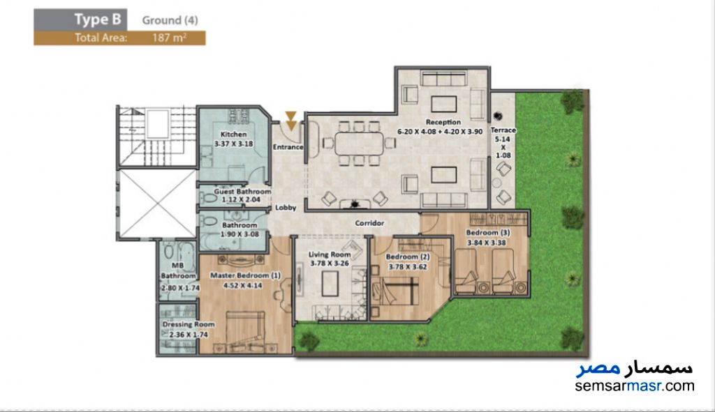 Photo 5 - Apartment 3 bedrooms 3 baths 187 sqm extra super lux For Sale North Extensions 6th of October