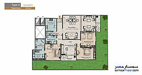 Apartment 3 bedrooms 3 baths 254 sqm extra super lux For Sale North Extensions 6th of October - 5