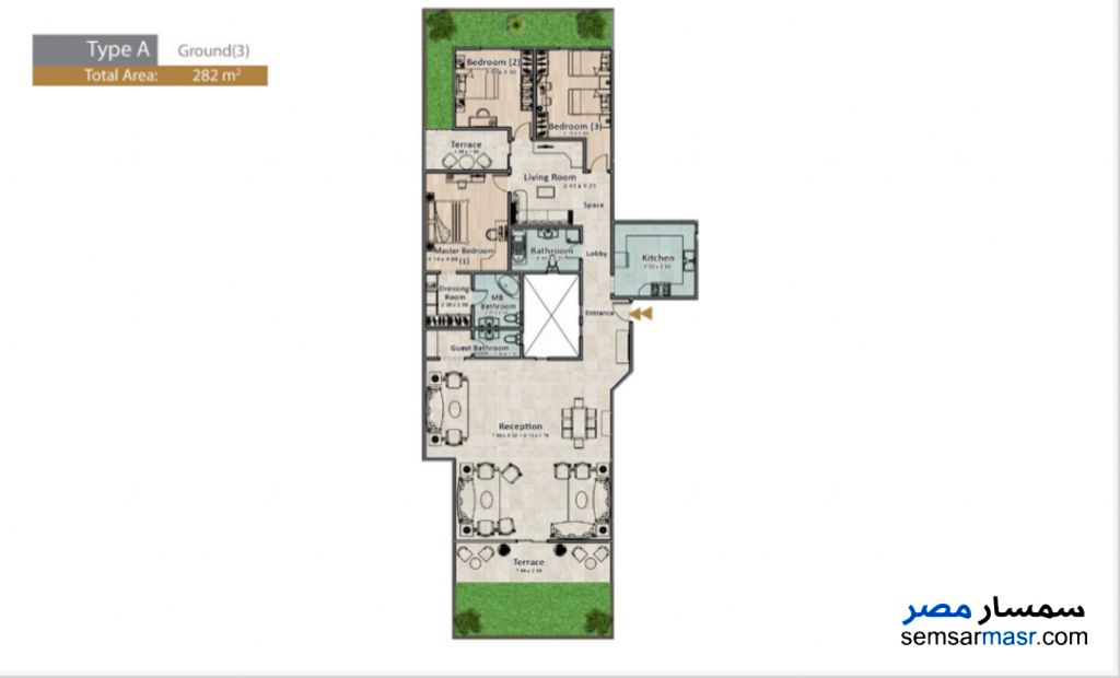 Photo 5 - Apartment 3 bedrooms 3 baths 282 sqm extra super lux For Sale North Extensions 6th of October