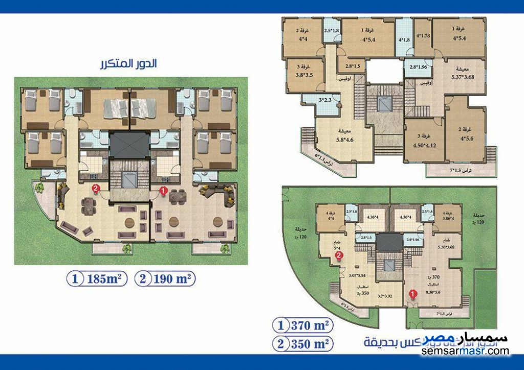 Photo 1 - Apartment 4 bedrooms 3 baths 185 sqm semi finished For Sale North Extensions 6th of October