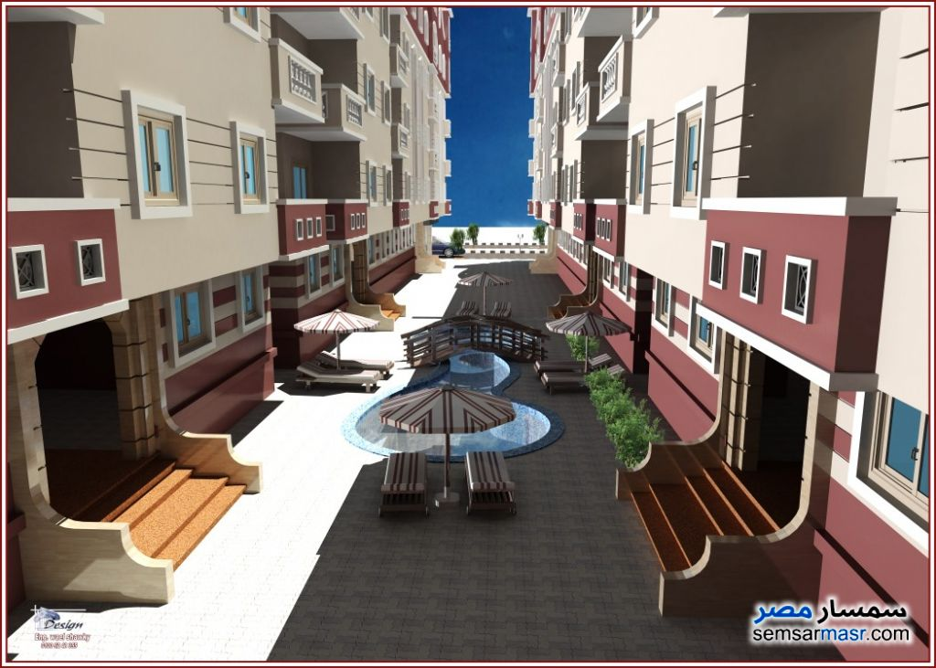 Photo 2 - Apartment 2 bedrooms 1 bath 82 sqm without finish For Sale Hurghada Red Sea
