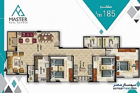 3 bedrooms 3 baths 189 sqm semi finished For Sale Fifth Settlement Cairo - 4