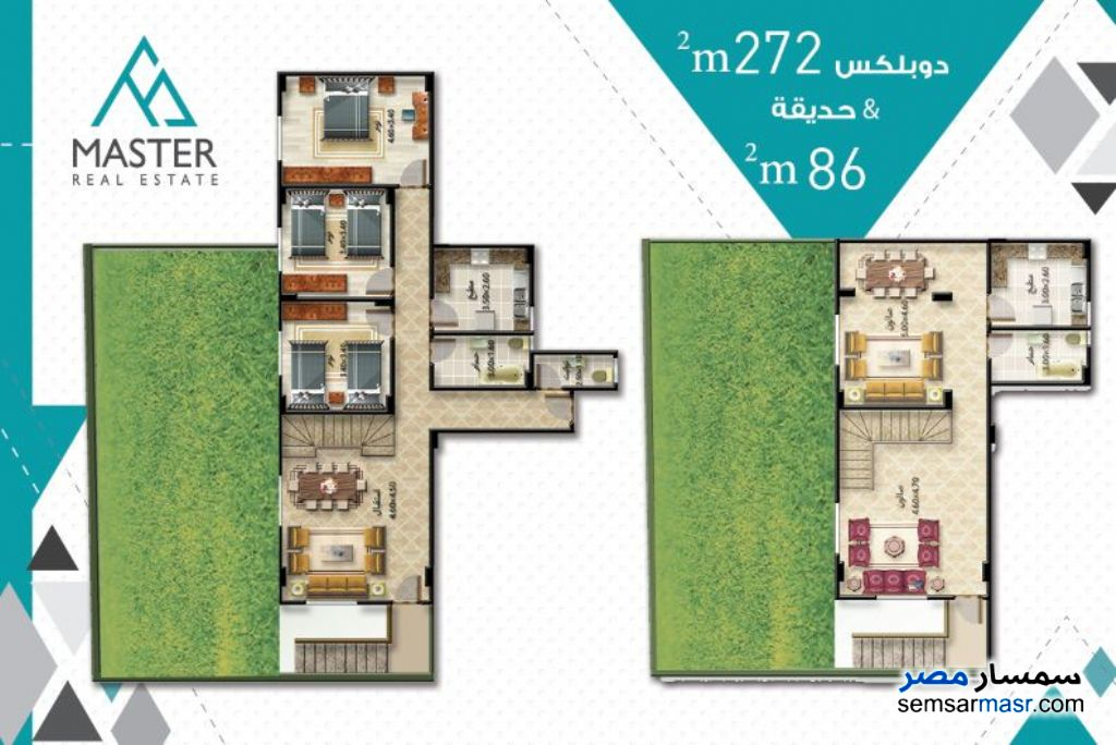 Photo 6 - 3 bedrooms 3 baths 189 sqm semi finished For Sale Fifth Settlement Cairo