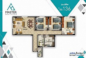 3 bedrooms 3 baths 189 sqm semi finished For Sale Fifth Settlement Cairo - 2