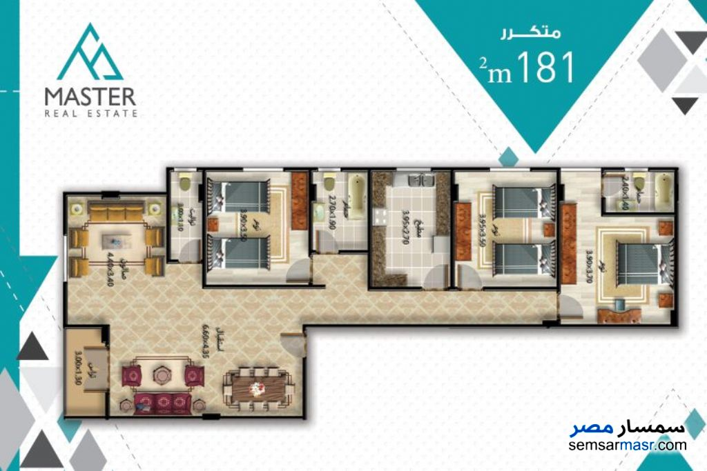 Photo 3 - 3 bedrooms 3 baths 189 sqm semi finished For Sale Fifth Settlement Cairo