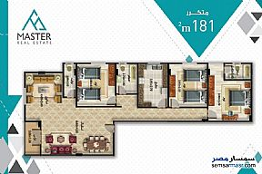 3 bedrooms 3 baths 189 sqm semi finished For Sale Fifth Settlement Cairo - 3