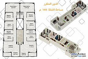 Ad Photo: Apartment 3 bedrooms 2 baths 145 sqm without finish in Badr City  Cairo