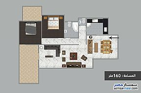 Ad Photo: Apartment 2 bedrooms 2 baths 160 sqm semi finished in Roshdy  Alexandira