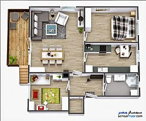 Ad Photo: Apartment 3 bedrooms 1 bath 110 sqm without finish in El Mahalla El Kubra  Gharbiyah