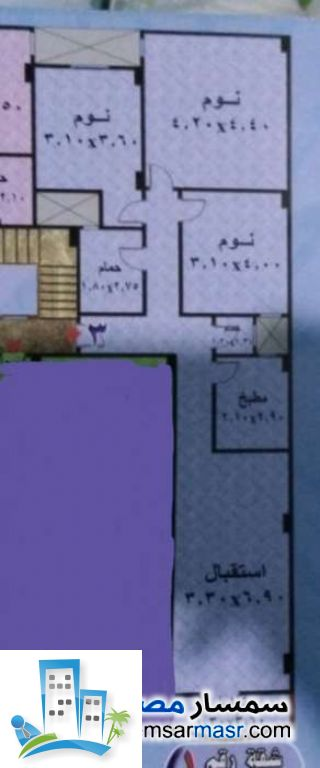 Ad Photo: Apartment 3 bedrooms 2 baths 120 sqm in al salam city Cairo