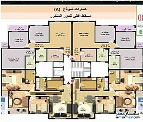 Ad Photo: Apartment 3 bedrooms 2 baths 130 sqm super lux in First Settlement  Cairo