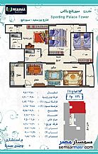 Ad Photo: Apartment 3 bedrooms 2 baths 136 sqm extra super lux in Sporting  Alexandira