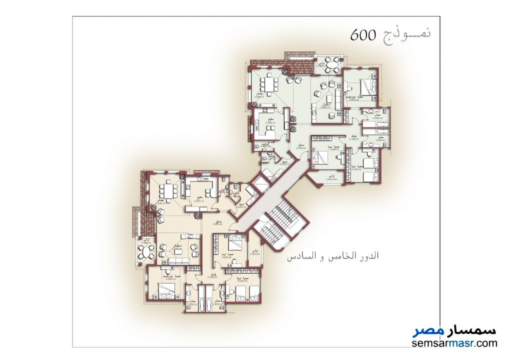 Ad Photo: Apartment 3 bedrooms 3 baths 265 sqm lux in Egypt