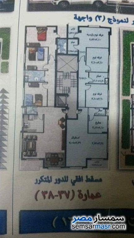 Photo 2 - Apartment 3 bedrooms 3 baths 170 sqm semi finished For Sale Al Fardous City 6th of October