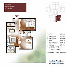 Apartment 3 bedrooms 2 baths 170 sqm extra super lux For Sale New Capital Cairo - 32