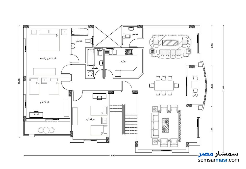 Photo 2 - Apartment 3 bedrooms 3 baths 200 sqm semi finished For Sale Shorouk City Cairo