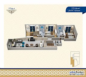 Ad Photo: Apartment 3 bedrooms 3 baths 182 sqm semi finished in Haram  Giza