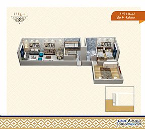 Ad Photo: Apartment 2 bedrooms 1 bath 110 sqm semi finished in Haram  Giza